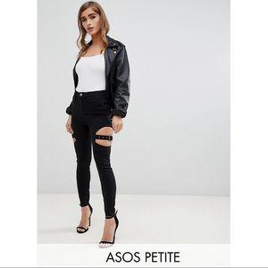 ASOS Design Petite Ridley High Waist Skinny Jeans
